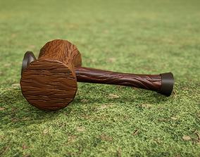 3D model realtime PBR Stylized Hammer