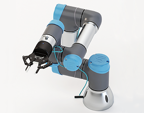 Universal Robots collaborative UR3 With Robotiq Two 3D
