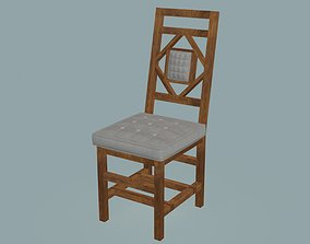 3D model Classic armless dining chair