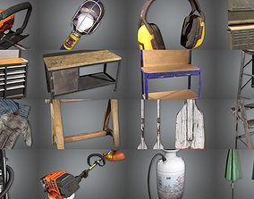 Collection- Toolshed Props COMBO ULTRA SET 3D model