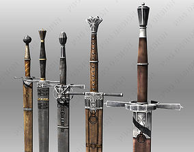 3D asset Bastard Swords