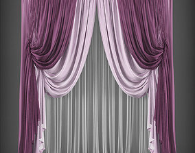 game-ready Curtain 3D model 245