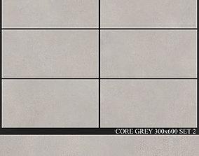 3D model Yurtbay Seramik Core Grey 300x600 Set 2