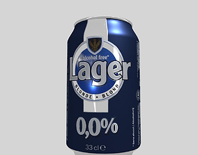 Beer Can Lager 33cl 3D