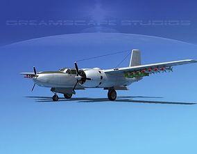 Douglas A-26B Invader V08 3D model