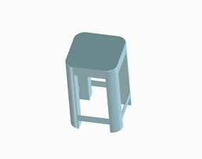 Plain Stylish Stool 3D print model