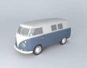 3D Volkswagen Type 2 Kombi T1 1967