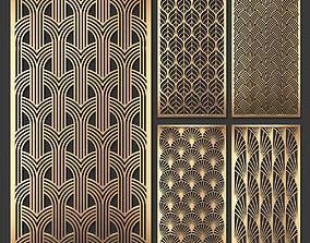Decorative panel set 58 3D model