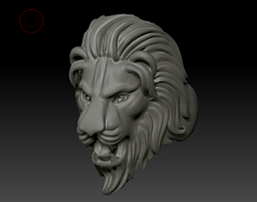 3D print model HEAD LION RING