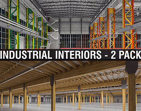 3D model Industrial Interiors 2 Pack