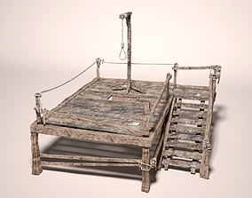 lasso 3D model Medieval Gallows