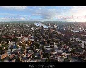 3D asset Ancient City Chi Street in China