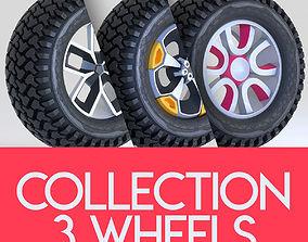 3D model Pack Wheel Tire Rim Design