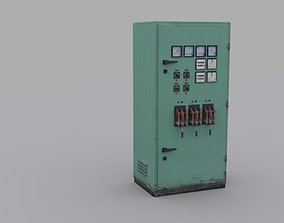 Electrical Panel 3D asset VR / AR ready electronics