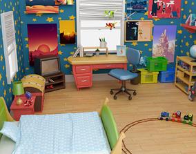 Cartoon Bedroom 3D Model VR / AR ready
