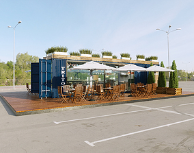 3D model Cafe container