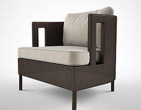 Mc Guire Furniture Cab lounge chair 3D