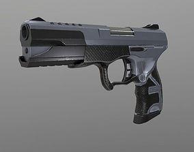 Handgun Low poly 3D asset