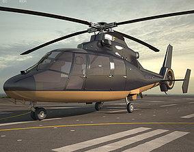 3D model Eurocopter AS365 Dauphin civil