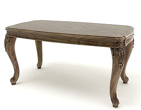 3D model American Wooden Table