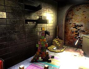 game interior ruin poison bunker 3D model