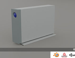 realtime 3d model of hard disk Lacie