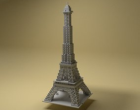 Eiffel Tower Voxel 3D printable model