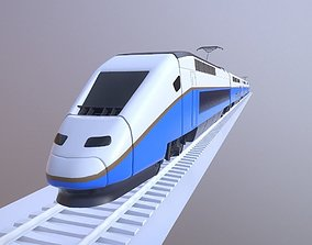 Euroduplex Train Lowpoly 3D model