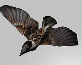 3D asset Flying sparrow