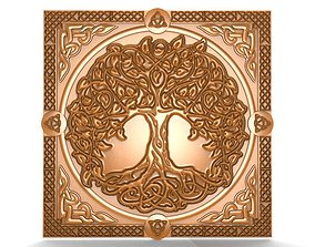 3D printable model carved Celtic tree of life CNC
