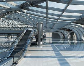 3D Futuristic Architectural Structure