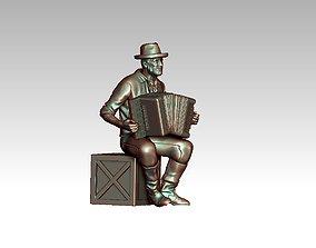 street musician 3D print model