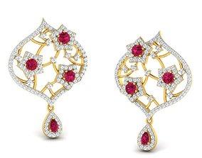 Women gem earrings 3dm render detail drop-earrings