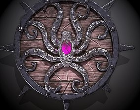 octopus shield 3D asset