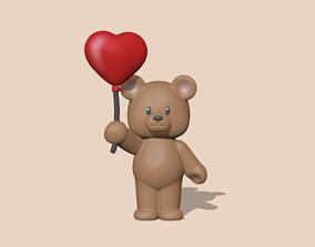 3D print model A cute Heart Bear - Valentines Day