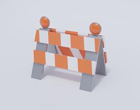 Traffic Barrier 3D model low-poly