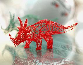3D printable model Styracosaurus Wireframe