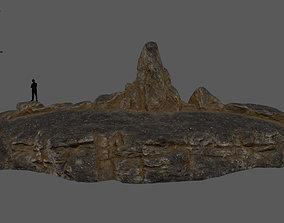 old desert rock 3D asset