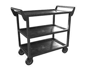 Dark Steel Cart 3D asset