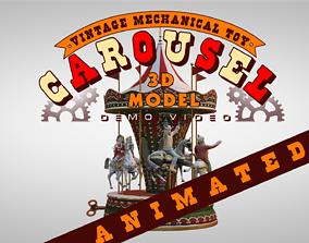 3D model Carousel Vintage Mechanical Toy