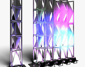 Stage Decor 25 Modular Wall Column 3D model