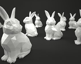 Low Poly Bunny Rabbit 3D model