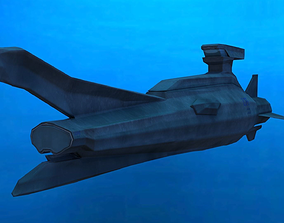 Original Sci-fi Submarine 3D model