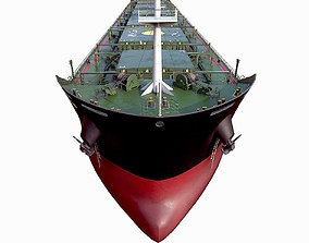 3D Bulk carrier Black with holds and reservoirs