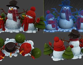 snowman desktop 3D model
