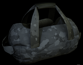 Opened Duffel Bag -empty 3D asset low-poly