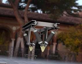 3D asset Electricity Poles Insulators 8 - Object 112