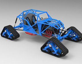 Buggy with Mattracks Suspension tracks 3D