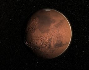 Realistic Mars Planet with atmosphere 3D model