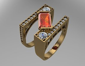 Brilliant Double Ring 3D printable model